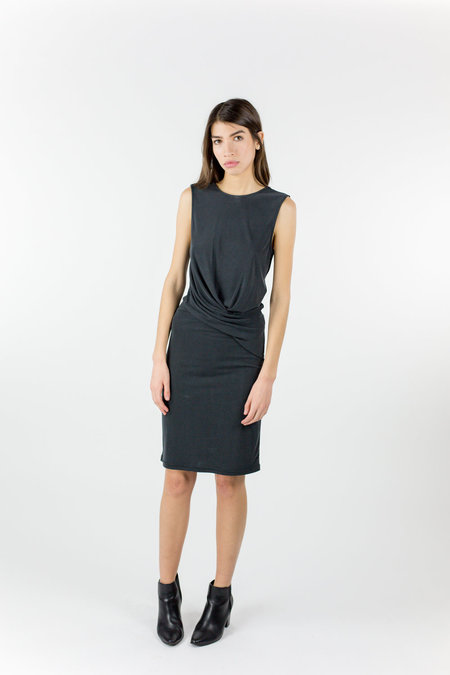 Just Female Carey Drapy Dress - Black