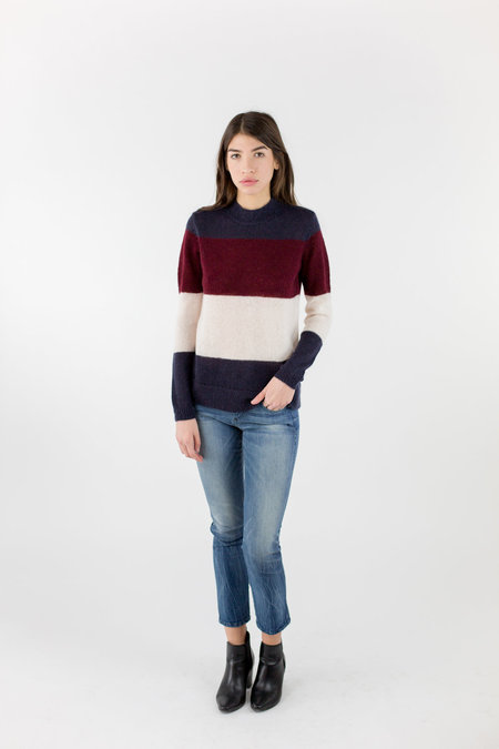 Just Female Glaze Knit - Red Stripe