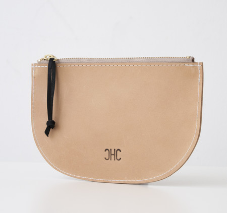 CHC Slim Zip Pouch - English Tan