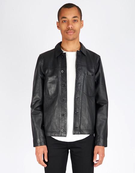 Men's Nudie Ronny Leather Jacket Black