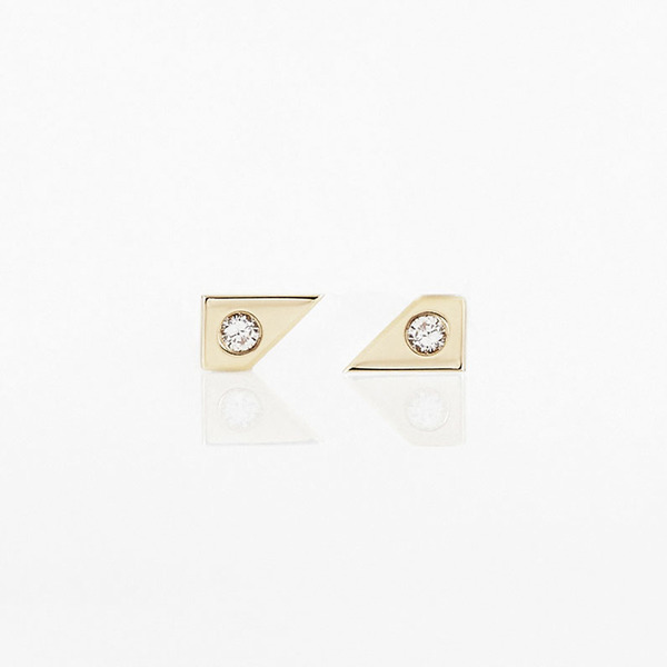 Tara 4779 Oblique Earrings No. 2 Gold