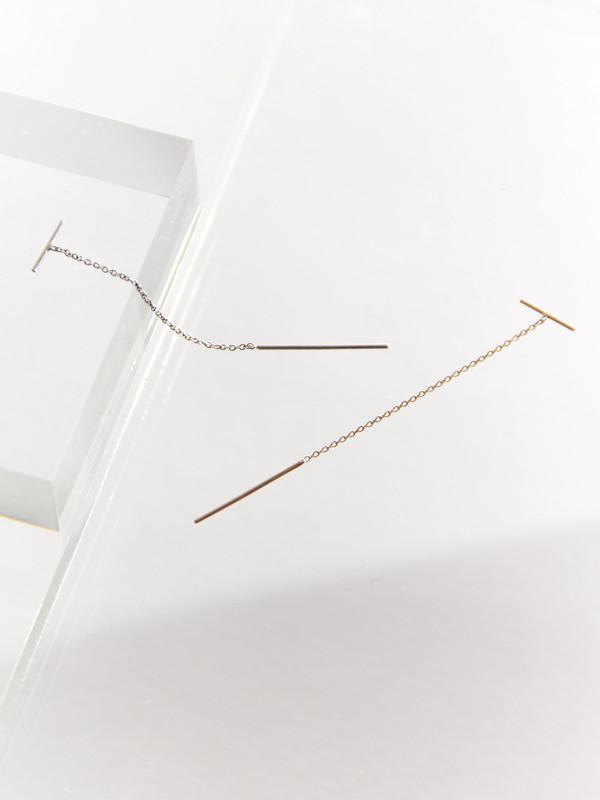 Line Chain Earring Silver