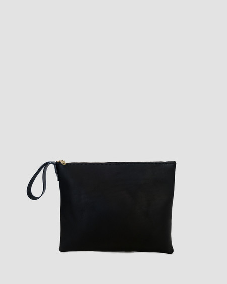 esby leather ESBY CLUTCH - BLACK CALFSKIN