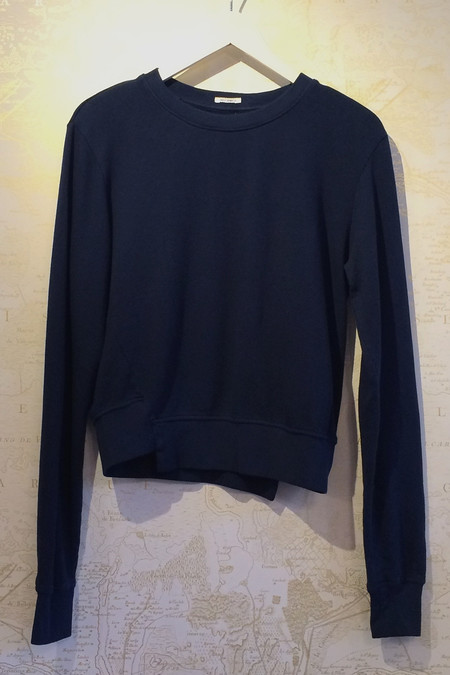 Mother Denim Sweatshirt with Asymmetrical Hem