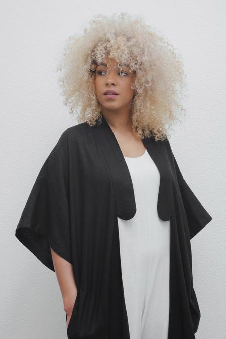 Laurs Kemp Nori Kimono Jacket in Black