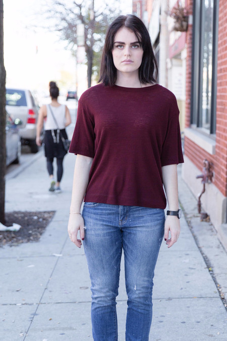Waltz Wool T-Shirt in Oxblood