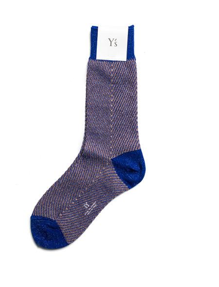 Ys by Yohji Yamamoto Herringbone Glitter Socks