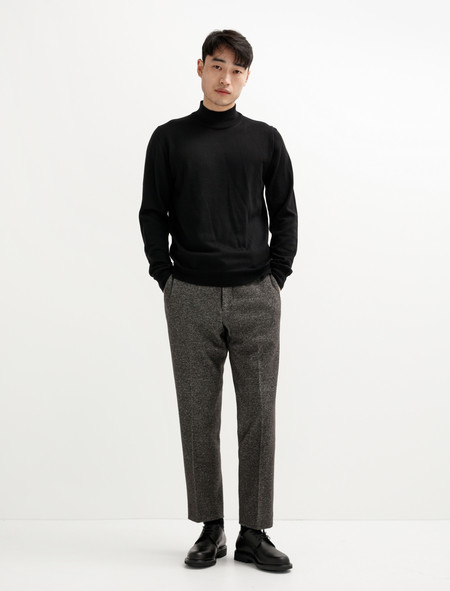 Niuhans Melton Wool Cotton Pants Brown