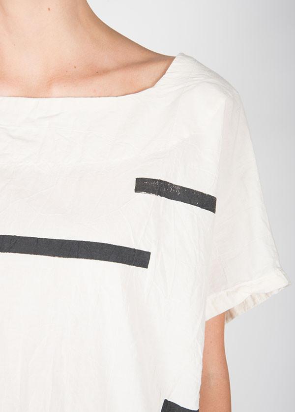Uzi -  Kimono Top in Broken Stripe