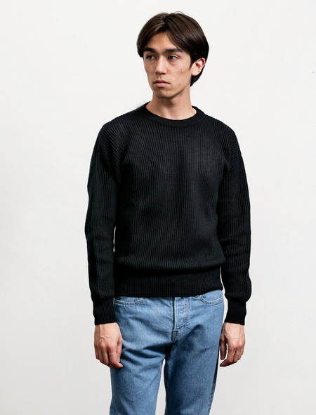 Cristaseya Men's Wool and Paper Sweater Navy