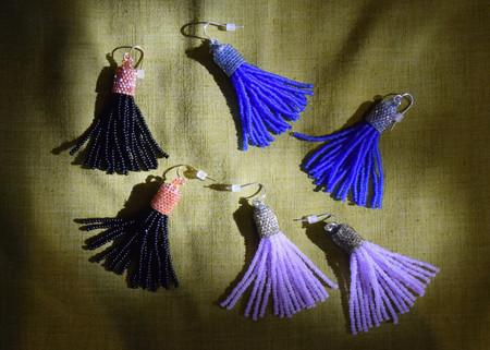 Zartiztry Portia Beaded Tassel Earrings