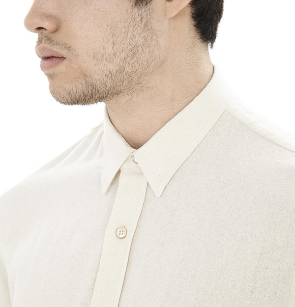 Men's Our Legacy Raw Silk Shirt I White