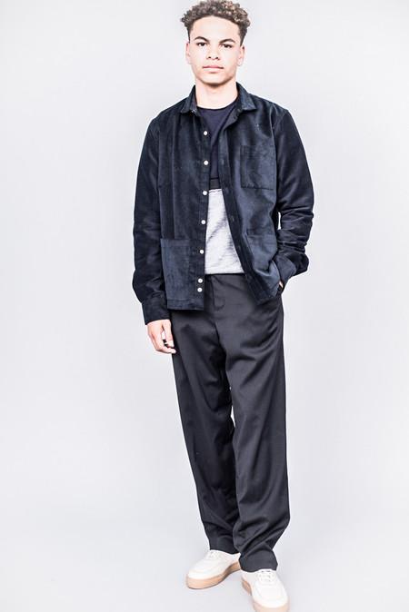 DDUGOFF Sol Four Pocket Shirt Dark Navy Narrow Wale Corduroy