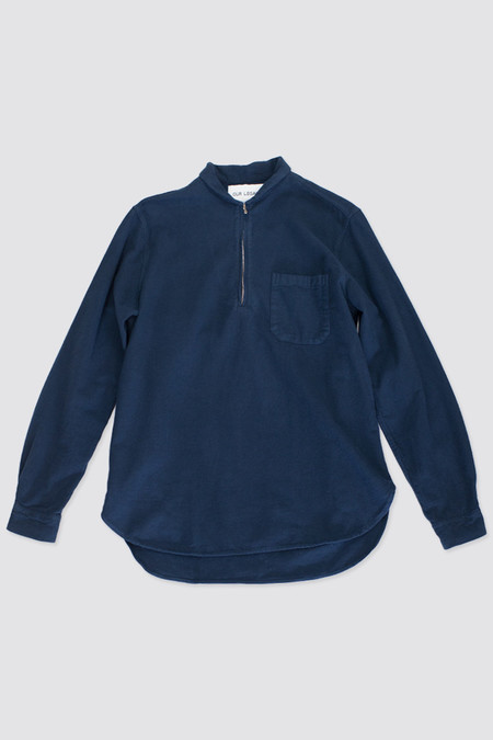 Our Legacy Shawl Zip Shirt Navy Ultimate Flannel