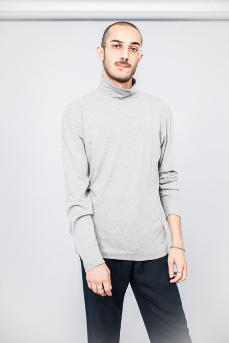 Our Legacy Turtleneck Grey Melange Army Jersey