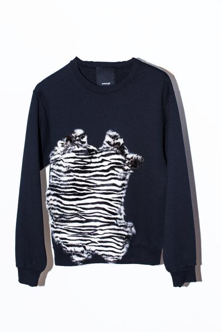 Assembly New York Fur Sweatshirt - Zebra
