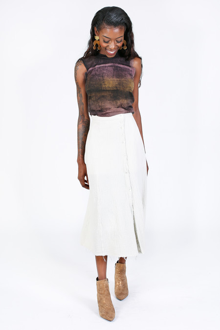 Raquel Allegra Safari Skirt in Dirty White