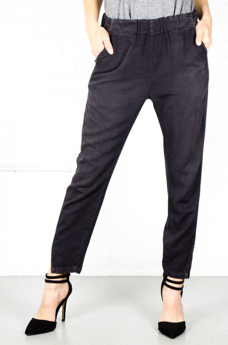 AMO Washed Black Twist Pull On Pants