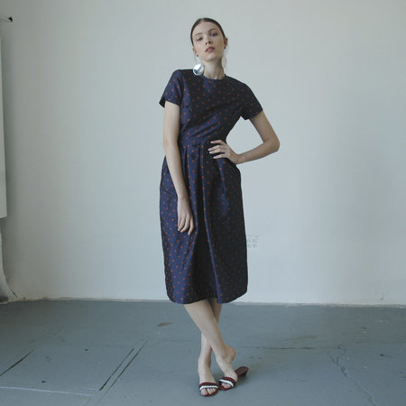 Nikki Chasin Marta Dress - Navy/Ochre