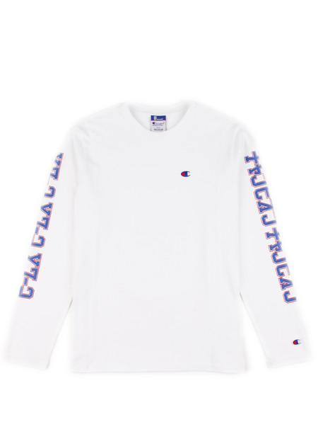 Men's Champion Long Sleeve Crewneck T-shirt White