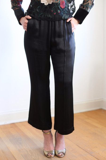Ganni Sanders Satin Pants
