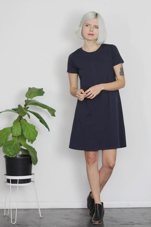 Calder Blake Viv Dress in Solid Cotton Jersey