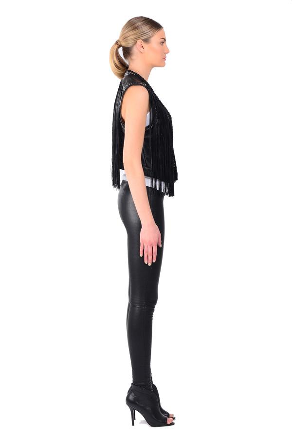 Lamarque Brittany Fringe Vest