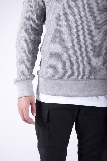 Wings + Horns Knit Wool Crewneck Heather Grey
