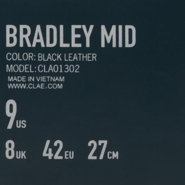 CLAE BRADLEY MID / BLACK LEATHER
