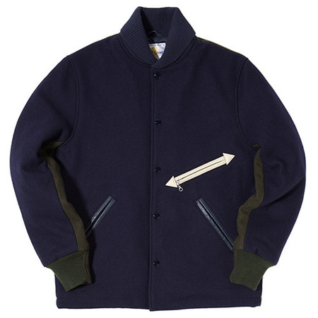 GARBSTORE GOLDEN BEAR STADIUM JACKET NAVY / GREEN