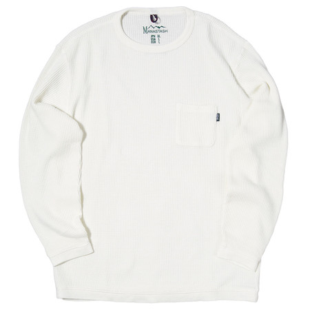 MANASTASH SNUG HEMP WAFFLE THERMAL / WHITE