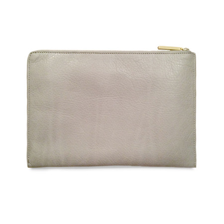 Eayrslee Harper Clutch in Cream Lizard