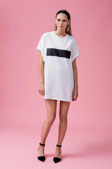 Beth Richards Censor Tee - White
