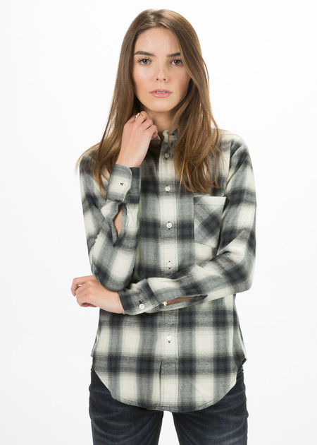 R13 Women's Slim Boy Button Up Shirt