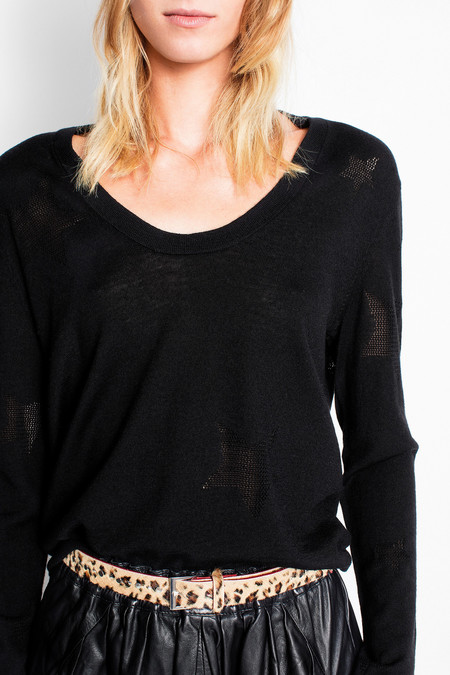 Rina Star Sweater - Black