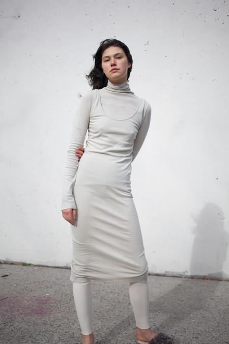 Lauren Manoogian Cashmere Rib Dress in Light Sage