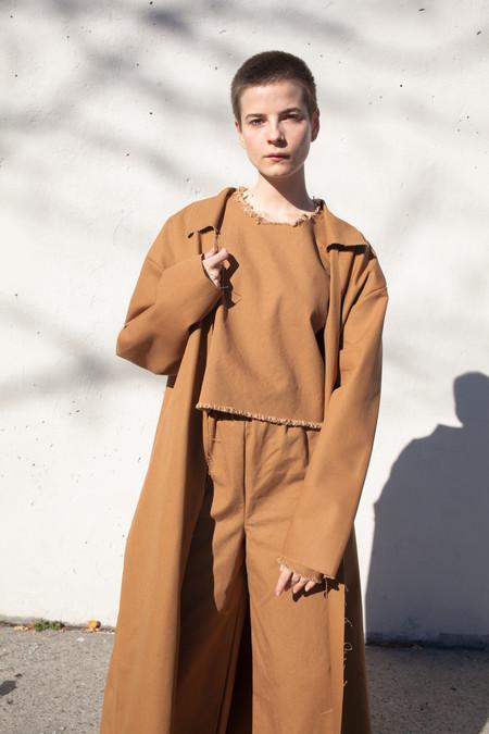 Ashley Rowe Coat in Tan
