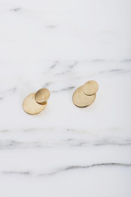 Samma Double Primer Earring #7 in Brass