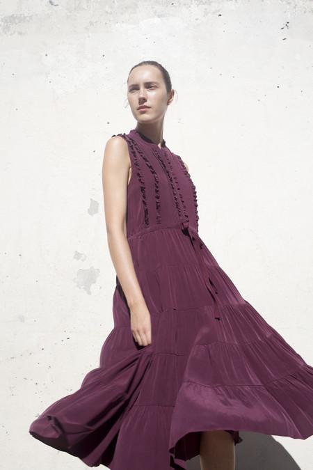 Ulla Johnson Minetta Dress in Bordeaux