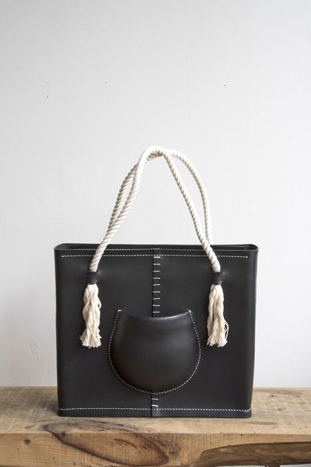 Eatable of Many Orders Pocket Tote Bag in Black