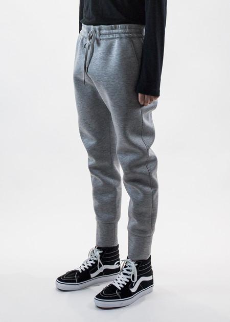 Helmut Lang Grey Curved Leg Track Pant