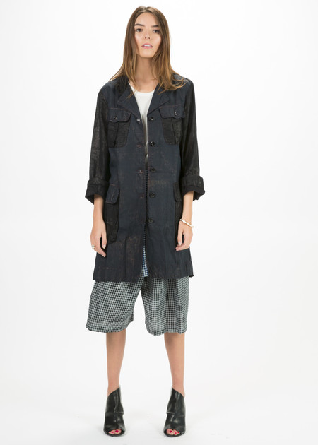 Dosa Two-Tone Travel Coat