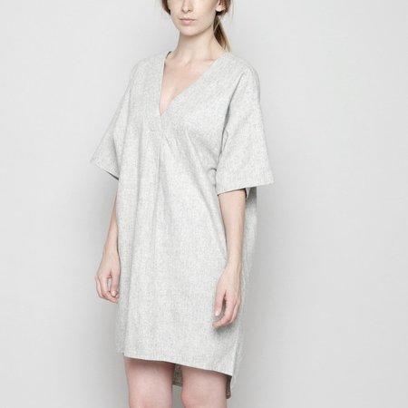 V neck cocoon dress