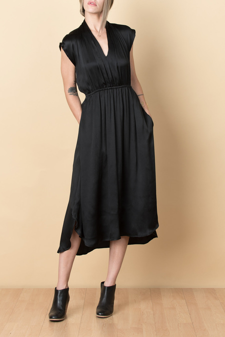 Podolls Pleatneck Soiree Dress In Black