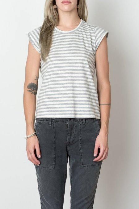 Podolls Milieu Tee In Grey Stripe