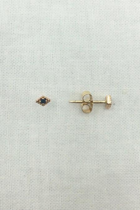 Blanca Monrós Gómez tiny black diamond filigree studs