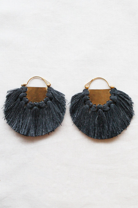 hazel cox solar earrings in coal