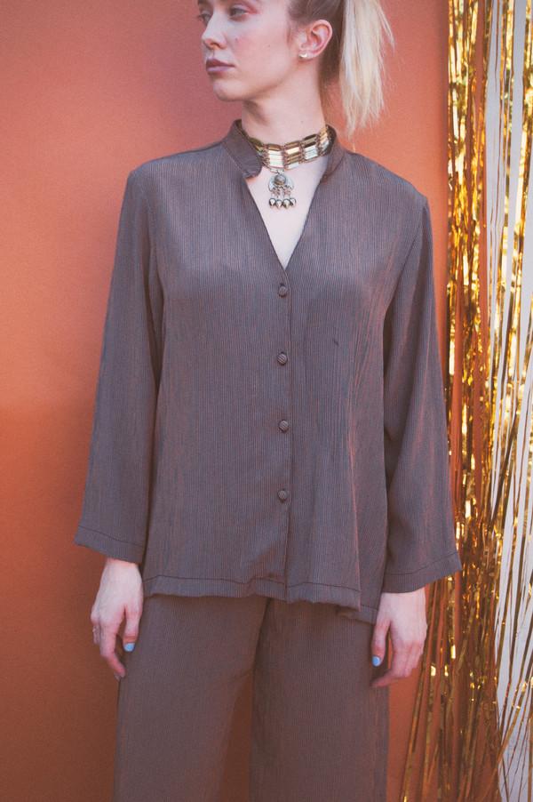 Lykke Wullf Button Up Pajama Top