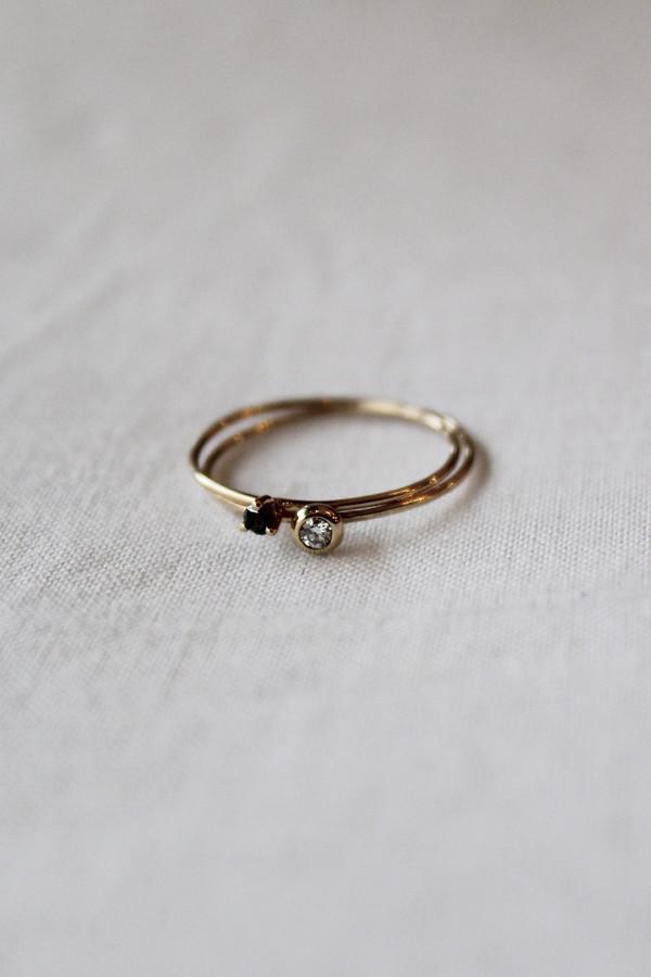 blanca monros gomez black diamond tiny solitaire ring