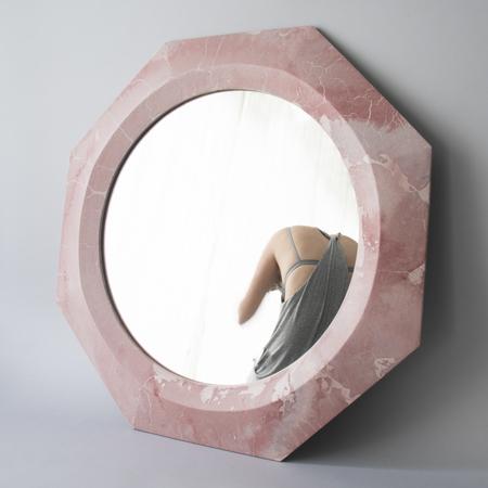Concrete Cat  'Athena' Concrete Mirror